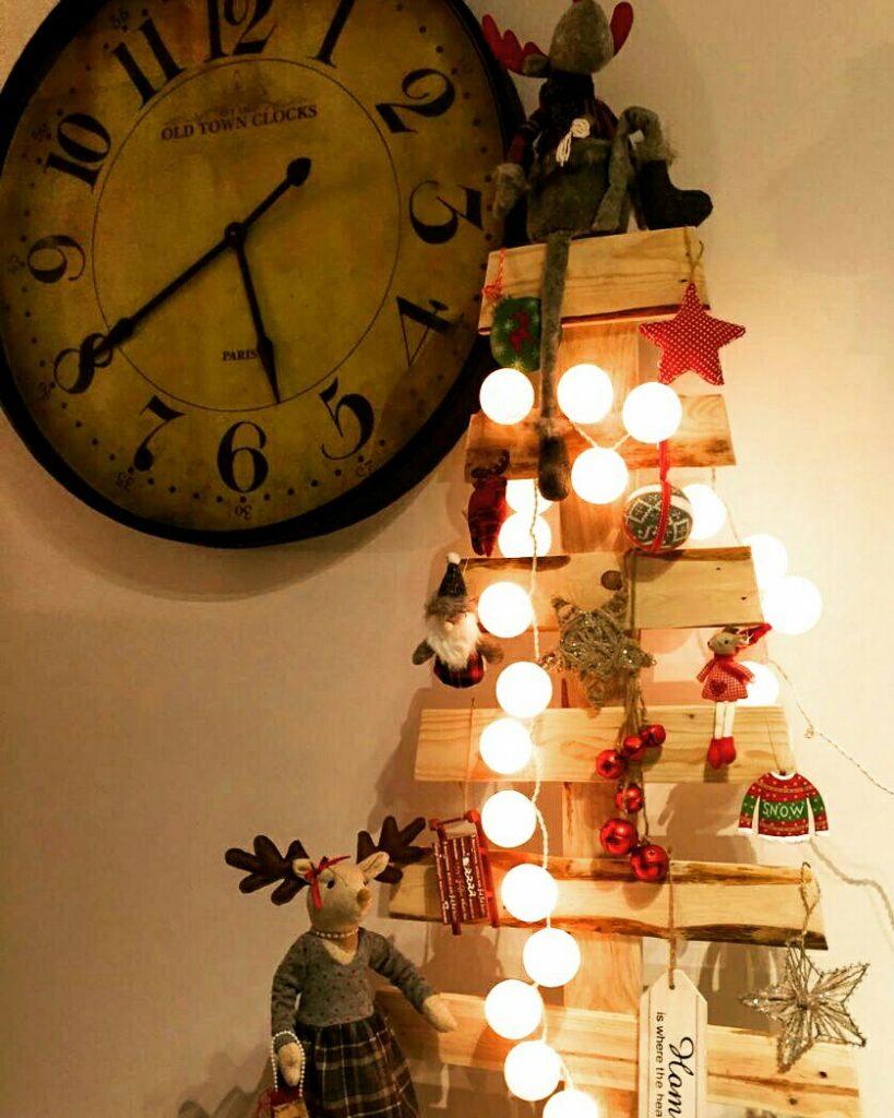 arbol de navidad hecho con palets 1