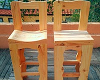 taburetes madera curvo