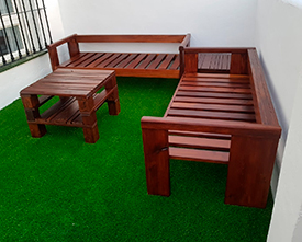 sofa de palets exterior