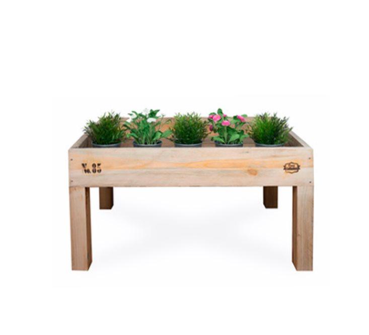 Jardinera con forma de mesa