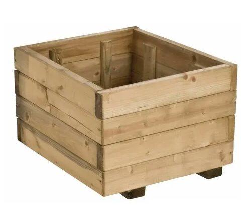 macetero forma de caja